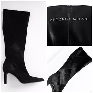 """""""Glove Fit"""" Suede & Pony Fur glove fit boots, 7"""
